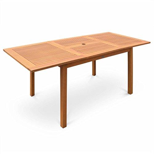 Alice\'s Garden - Table de Jardin en Bois 120-180cm - Almeria - Table ...