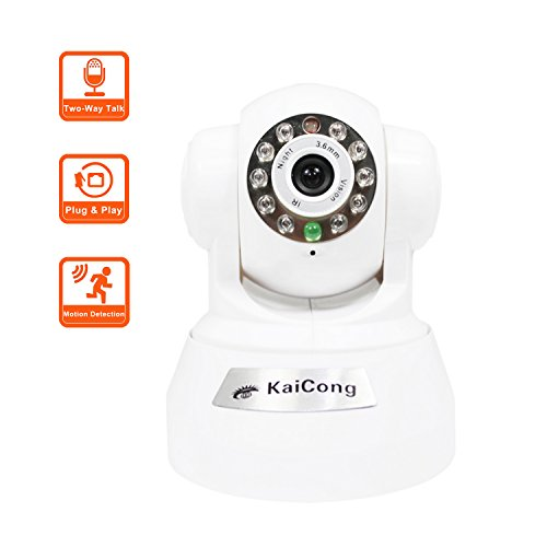 KaiCong Sip1602 Plug & Play/Pan & Tilt IP Camera Wireless Motion Detection Mobile View Network Camera With 20 Feet...