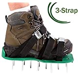 Unistore-Lawn aerator shoes. Manual aerator for garden breathing heavy duty with 3 straps and zinc buckle