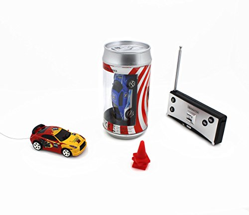 Radio Controlled Racing (Speed Mini Coke Racer RC Radio Remote Controlled Micro Racing Car With LED Lingts Toys Kids Gift, Color by Random)