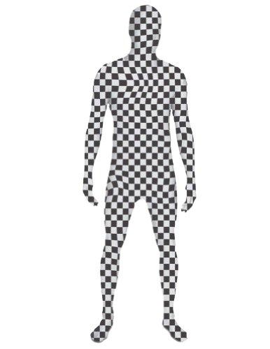 SecondSkin Men's Full Body Spandex/Lycra Suit, Checker, K...