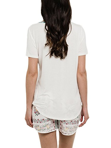 Smash Plicata, Camiseta para Mujer Blanco (Off White)