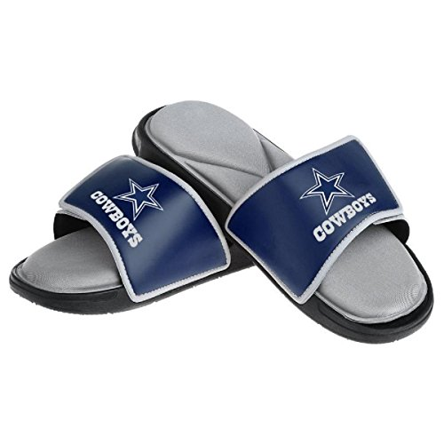 NFL Dallas Cowboys Men's Foam Sport Slide Footwear, Team Color, X-Large