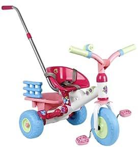 Coloma 838-37 Baby Princess - Triciclo en color rosa, blanco y azul con barra de empuje [Importado de Alemania]