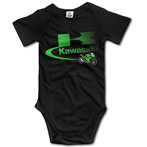 Sokie Baby's Bodysuit Romper Jumpsuit Baby Clothes Outfits Kawasaki Logo Black