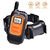 Dog Training Bark Collar Electric Beep Vibration Shock Collar Rechargeable Rainproof E-Collar for Small, Medium, Large Dogs Cat Headcollar with 330 Yds Remote
