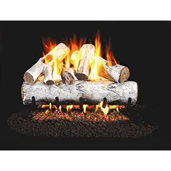 fireplace birch gas artificial san peterson gaslogs real diego logset stone logs inserts apple lb fyre
