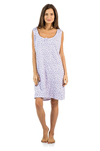 Casual Nights Women's Cotton Sleeveless Nightgown Chemise - Purple - Large