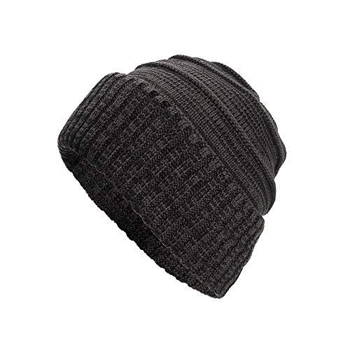 NRUTUP Knit Hats for Men, Thick & Warm Beanie in Cable and Ribbed Knit Styles.(Gray,Free Size) ()