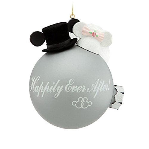 Disney Minnie and Mickey Mouse Wedding Ornament Happily Ever After -