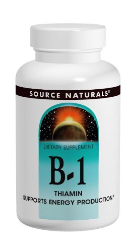 Source Naturals Vitamin B-1 Thiamin 500mg High Potency, 100% Pure – 100 Tablets