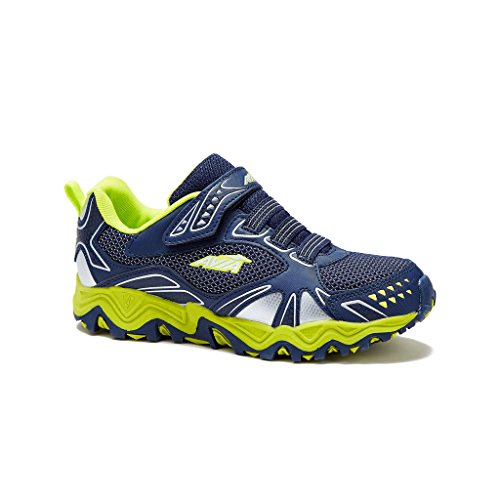 Price comparison product image AVIA Boys Avi-Tank Running Shoes 4 Navy / Lime-Green