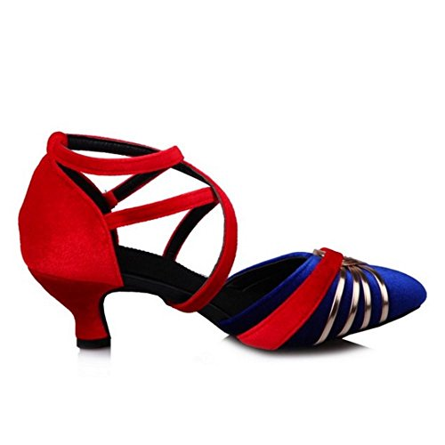 Azul Zapatos Party Big Mujer Sizes Danza Zanpa Mode w0zFqZ