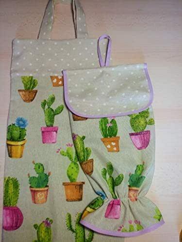 Bolsa de pan y guardabolsas cactus
