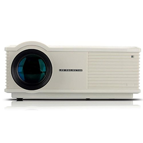 Wensltd LCD Projector HDMI AV USB VGA 2800 Lumens Home Cinema Theater (White) by WensLTD
