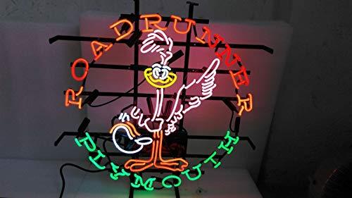 Roadrunner Light - GreeneerG Neon Sign Light Road Runner Plymouth Beer Bar Pub Sign Wall Decor Night Light 24
