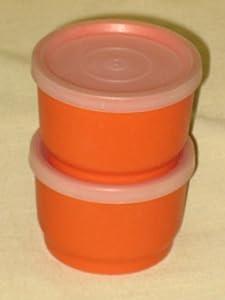 Amazoncom SET OF 2 Vintage Tupperware Small Snack Size 3x2 Inch