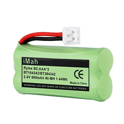 1-Pack iMah Ryme B2 BT184342 BT284342 Cordless Phone Battery Pack for Vtech CS6219 CS6229 DS6301 DS6151 BT18433 BT28433 BT-1011 BT-1018 BT-1022 BT-1031 Uniden AT&T DECT 6.0 Home Handset Telephone