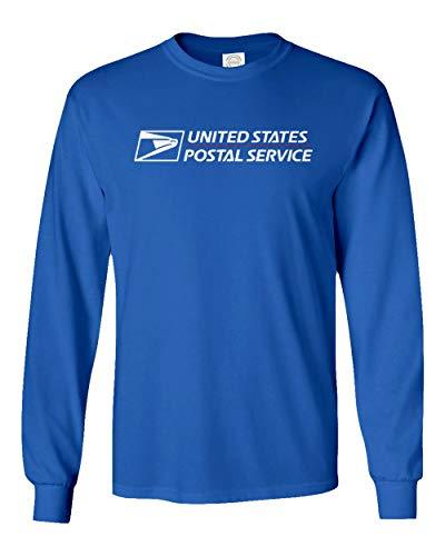 (USPS T-Shirt Shirt Postal t Shirt United States Service Eagle T Shirt (Royal (Long), X-Large))