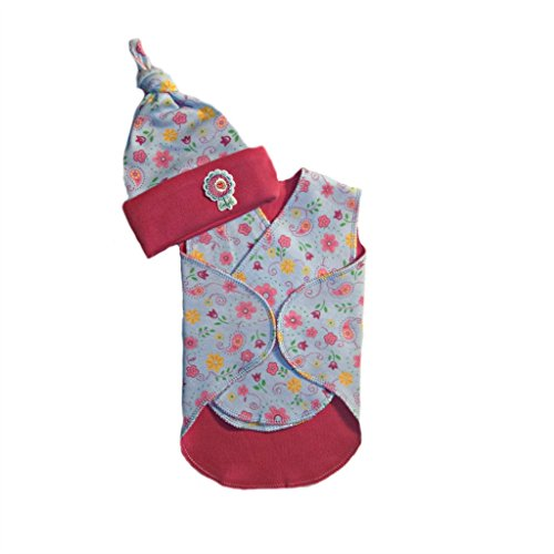 Jacqui's Baby Girls' Happy Flowers Snuggler Wrap Set, ()