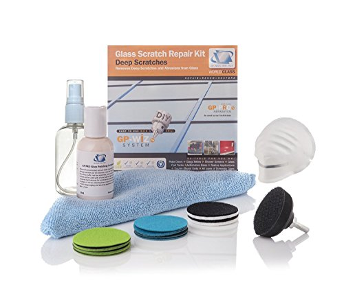 GP28002 Glass Scratch Repair DIY kit, GP-WIZ System, Scratches, Water Damage, Surface Marks / For any Type of Glass / Discs Diameter 2 - From Remove Glass To Scratch Marks How