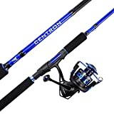 KastKing Centron Spinning Reel – Fishing Rod Combos, Toray IM6 Graphite 2Pc Blanks, Stainless Steel Guides (8'0' Heavy-Full Handle,5000 Reel)