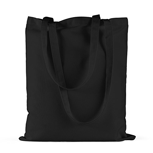 "Bolsa de tela ""Slayer"" - tote bag shopping bag 100% algodón LaMAGLIERIA, Negro"