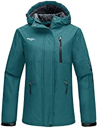 Wantdo Women's Hooded Windproof Ski Jacket Fleece Winter Coat