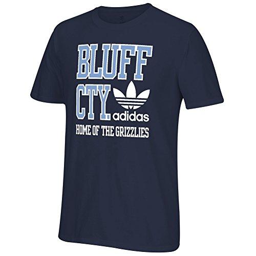 adidas NBA Men's City Stack T-Shirt-Memphis Grizzlies(Bluff Cty)-Medium (Memphis Grizzlies Gear)