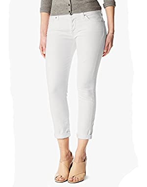 Seven for All Man Kind Women's White Relax Skinny Jean- 27 X 28