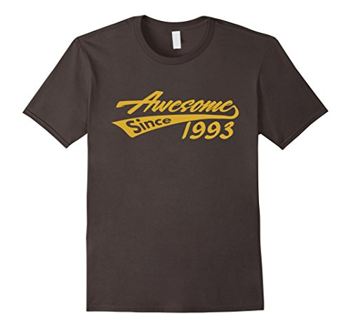 Mens Awesome Since 1993 T-shirt Cool 25 Birthday Party Top Tee XL Asphalt