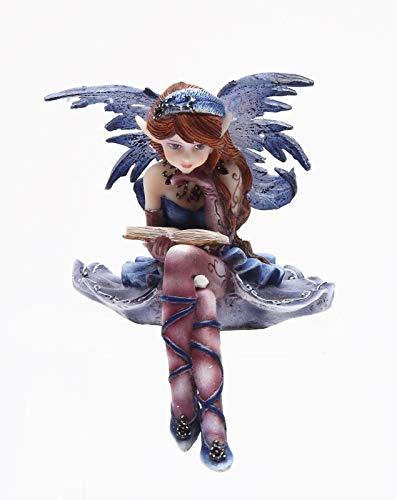 Figurine Collection Bookworm Fairy Shelf Sitters Statue Decor