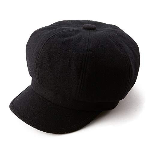 Womens Woolen Visor Beret Newsboy Cap Winter Merino Hat Quilting Ladies  Black Lining eb86298bda31