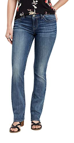 maurices Women's Slim Mid-Rise Jean - Denimflex Gray Stitch Boot Jeans