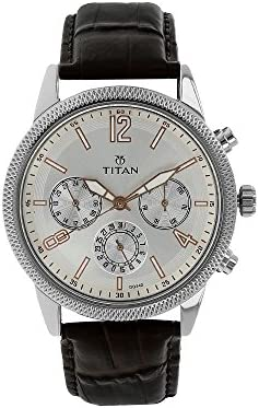 Titan Neo Men s Designer Watch – Quartz, Water Resistant, Leather Stainless Steel Strap