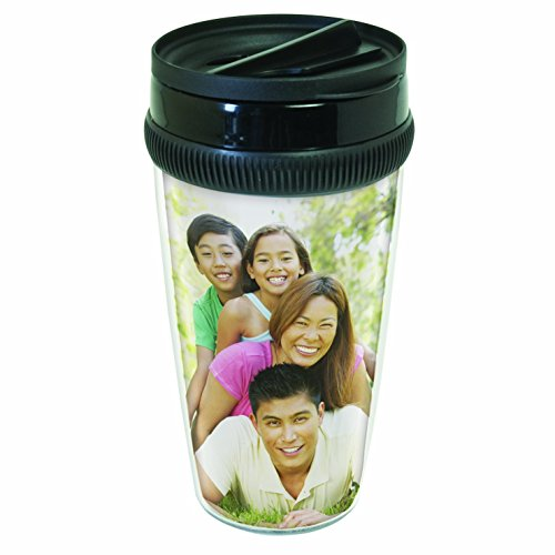 Photo Travel Mug (Design Your Own Mug - 12 oz. Photo DIY Travel Tumbler)