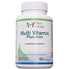 A to Z Pure Health Multivitamin Tablets (2 Months' Supply) | 60 Multivitamins and Minerals Tablets | 14 Essential…