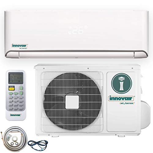 Innovair Air Conditioner Inverter Ductless Wall Mount Mini Split System Heat Pump Full Set with Kit (12000 BTU 115V Heat Pump) (Mini Split Ductless Heat Pump)