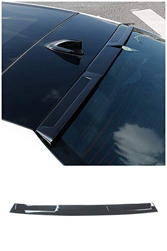 NINTE Roof Spoiler Fit for 2019 Toyota Avalon Hybrid/Limited/Touring/XLE/XSE PP Gloss Black Rear Roof Window Spoiler Wing