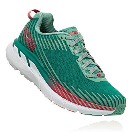 HOKA ONE ONE Women's Clifton 5 Running Shoe (6.5 B US, Green/Blue Slate/Canton Mesh)