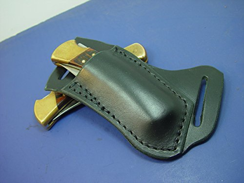 - Black Buck 110 Right Hand Cross Draw Knife Sheath. The Sheath Is Made Out of 8 Oz. Leather Made to Wear on the Left Side and Drown on the Right Hand.