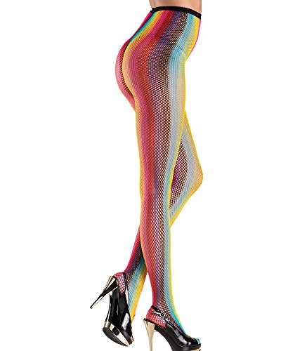 Be Wicked Womens Shimmering Rainbow Tights