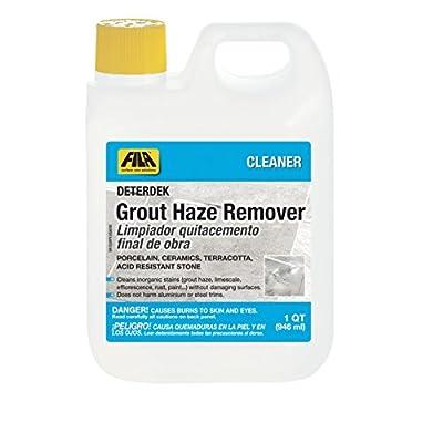 FILA Grout Haze Remover Deterdek 1 QT, Grout Cleaner for Porcelain Tile, Hard Surface Floor, Ceramic Tile, Terracotta, Acid Resistant Stone, Eco-friendly
