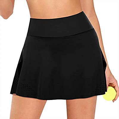 JOYMODE Women's Athletic Skort with Pockets Running Tennis Golf Workout Skirt: Clothing