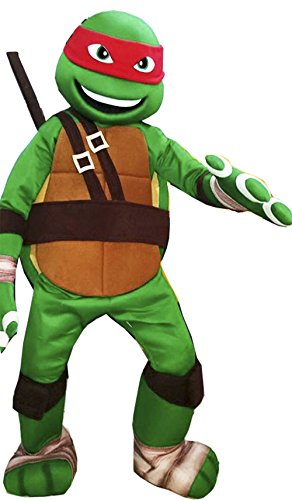 Ninja Turtle Mascot Costume Adult Cartoon Character Costume II (Turtle Mascot Costume)