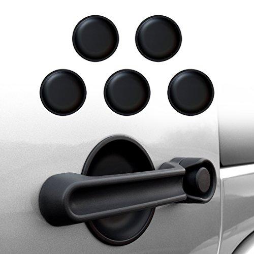 IPARTS Dish Shaped Door Handle Recess Guard Inserts for Jeep Wrangler JK JKU Unlimited Rubicon Sahara X Off Road Sport Accessories Parts 2007 2008 2009 2010 2011 2012 2013 2014 2015 2016 2017 - 4 door