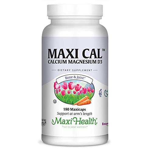 - Maxi Cal- Calcium Citrate w/ D3 and Magnesium - Bone & Joint Support - 1000mg per Serving - 180 Capsules - Kosher