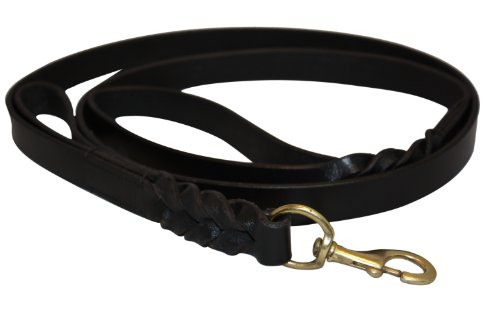 (Angel Braided Black Leather 6' x 3/4