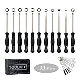EONBES Upgraded 11 pcs Carburetor Adjustment Tool Set, Carburetor Adjuster Screwdriver with Kit Bag for Adjusting 2 Cycle Small Engine Carb of Chainsaw Weed Eater Blower Trimmer etc