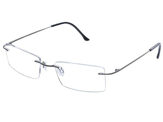 großer Rabattverkauf rationelle Konstruktion große Auswahl von 2019 DEDING Titan randlose Brille Brillenfassung (Grau): Amazon ...